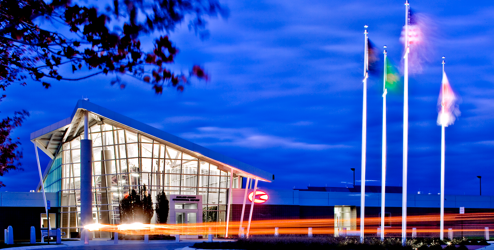 Oakland County International Airport New Terminal and Offices Exterior 1665x845