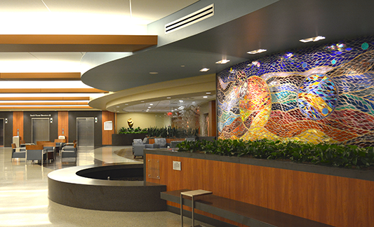 St Joseph Mercy Oakland South Patient Tower Lobby 2-533x324