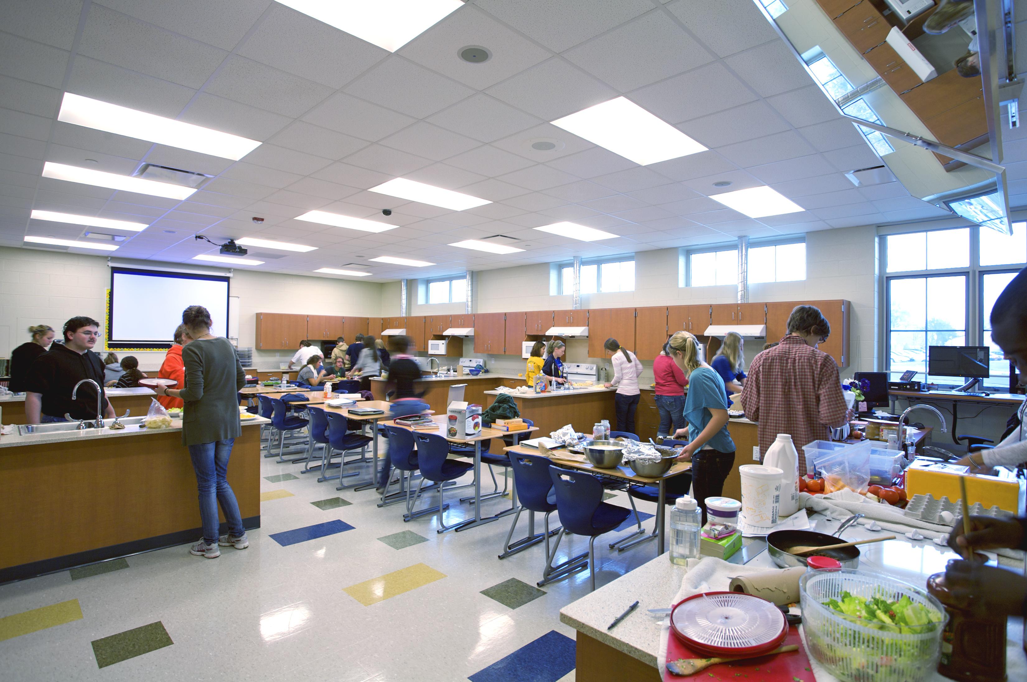 Portage Central HS Home Ec Classroom