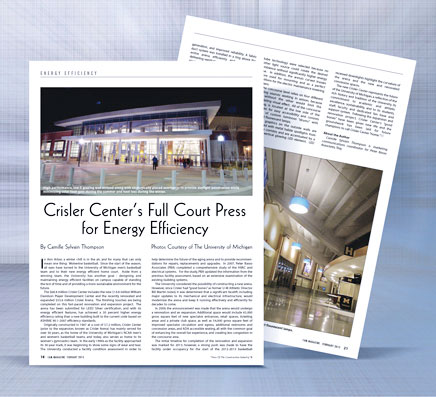 Full Court Press for Energy Efficiency Crisler Center UofM Ann Arbor