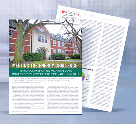 Meeting the Energy Challenge Michigan State University Anthony Hall