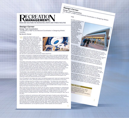 MEP & Architectural Coordination in Athletic Facility Design