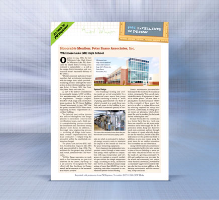 PBA Honorable Mentioned in Sustainability Design