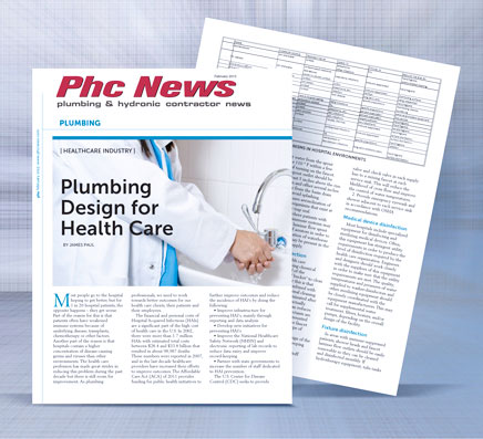 Plumbing Design for Health Care Improving Hygiene Disinfection and Controling Contamination