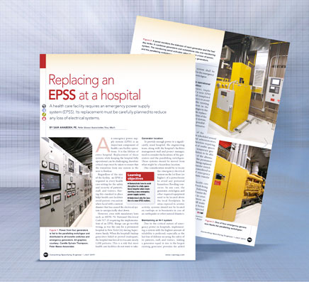 Replacing a EPSS a healthcare facility requires an emergency power supply
