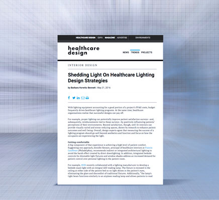 Shedding Light on Healthcare Lighting Strategies