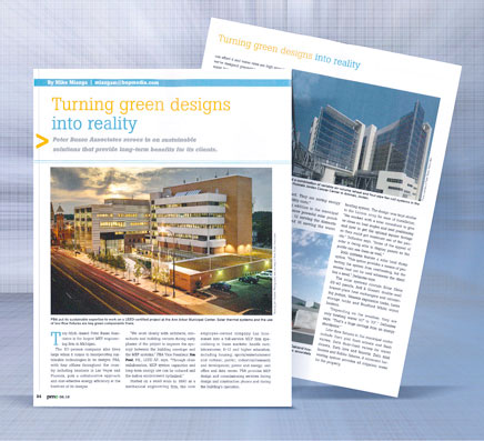 Turning Green Designs into Reality LEED Certified Projects go into the Ann Arbor Municiple Center
